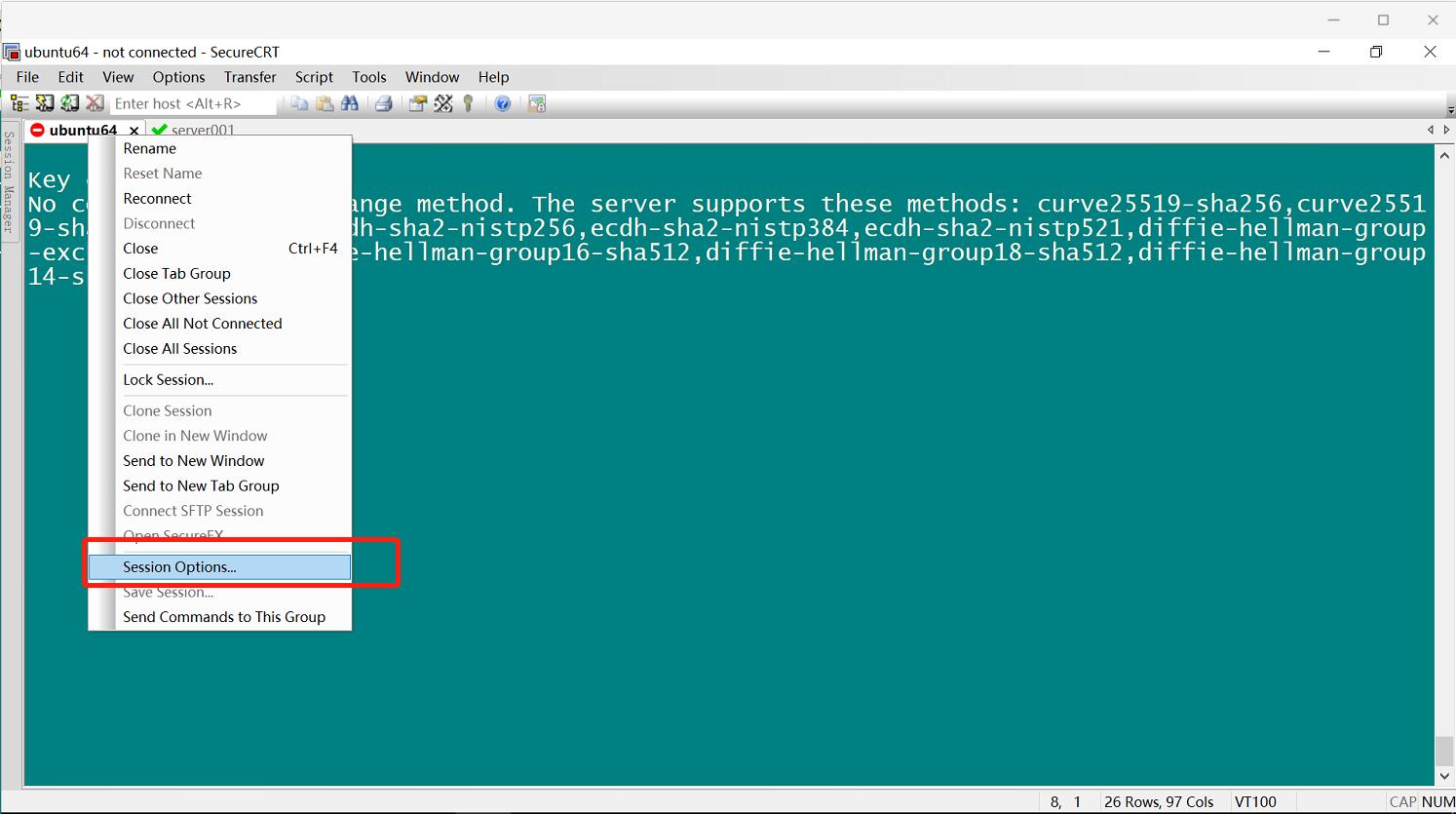 SecureCRT连接linux操作系统密钥交换失败解决方法 - 第6张  | 乐生活